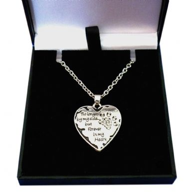No Longer by my Side but forever in My Heart Necklace | Someone Remembered